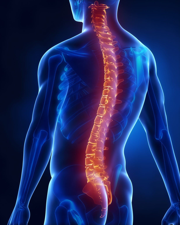 man with back bone