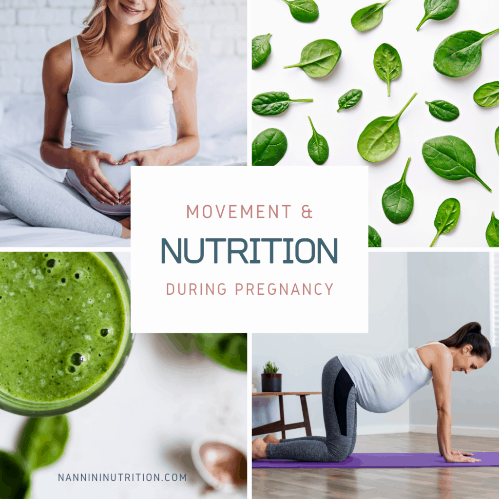 Nutrition and movement during pregnancy